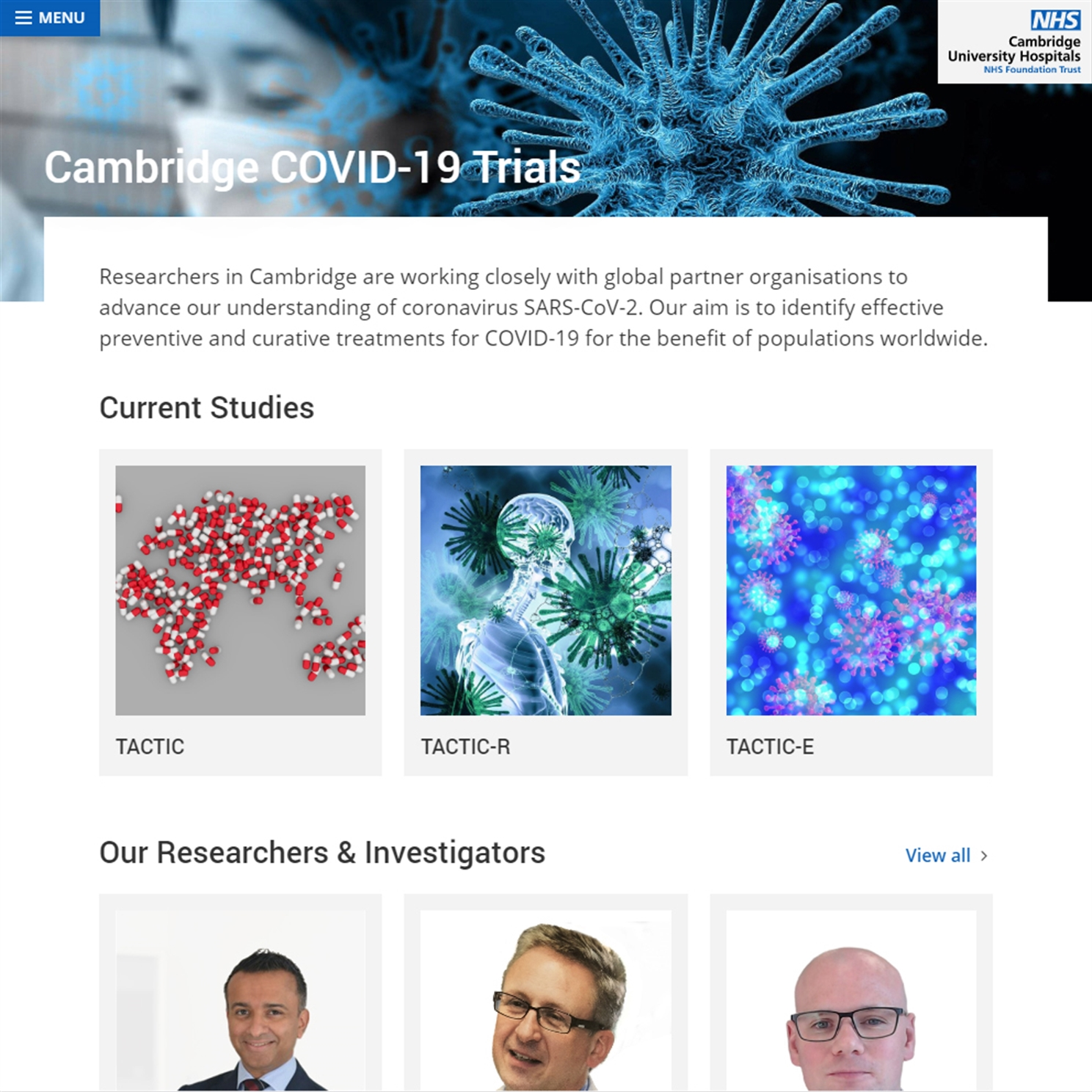 Isle launches information website for Cambridge Covid-19 Trials