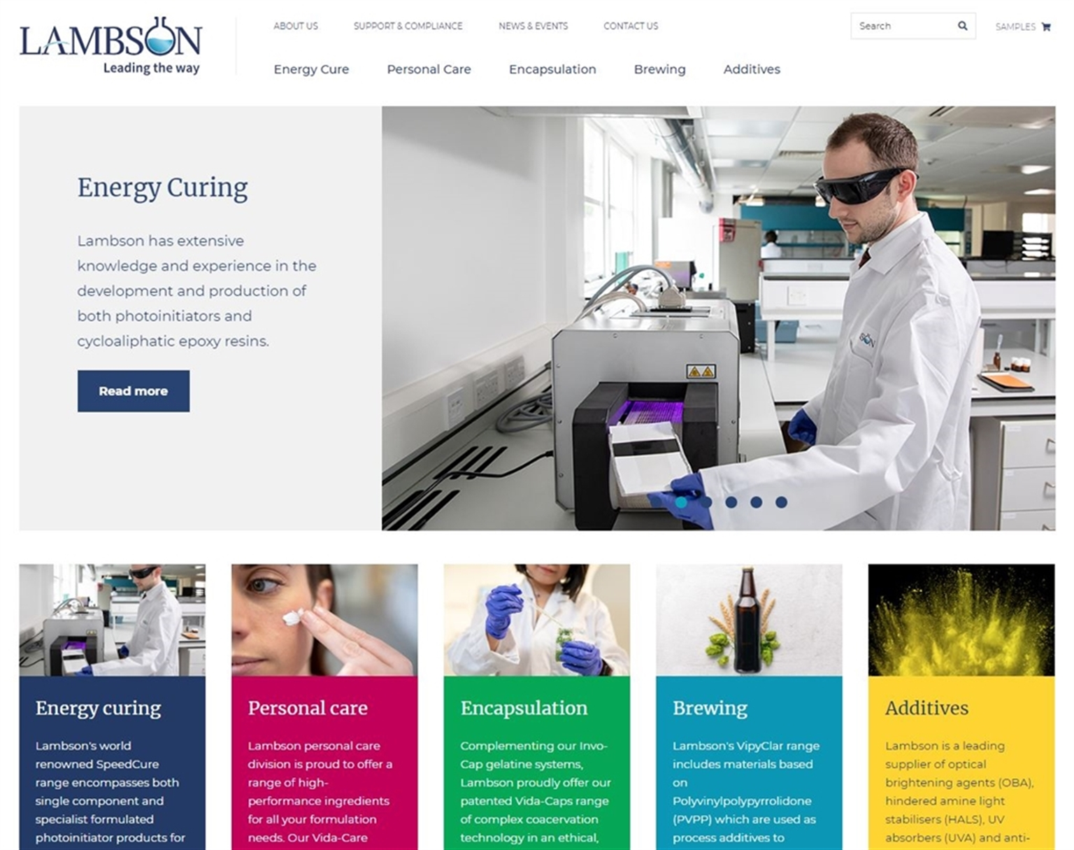 New website for chemicals firm Lambson
